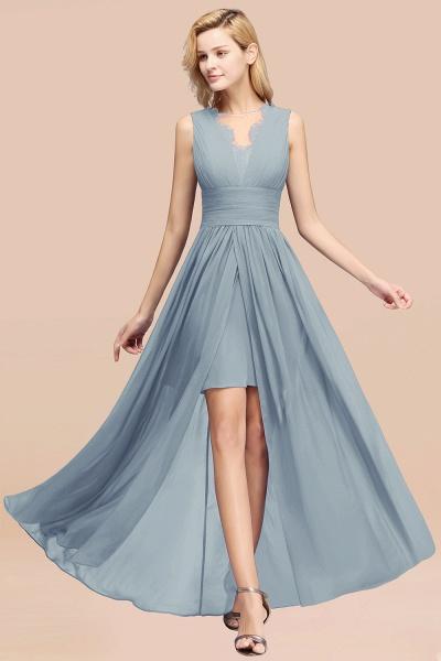 BM0835 Lace Chiffon Jewel Sleeveless Ruffles Short Bridesmaid Dress_40