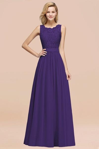 BM0834 Chiffon A-Line Lace Scalloped Sleeveless Long Ruffles Bridesmaid Dress_19
