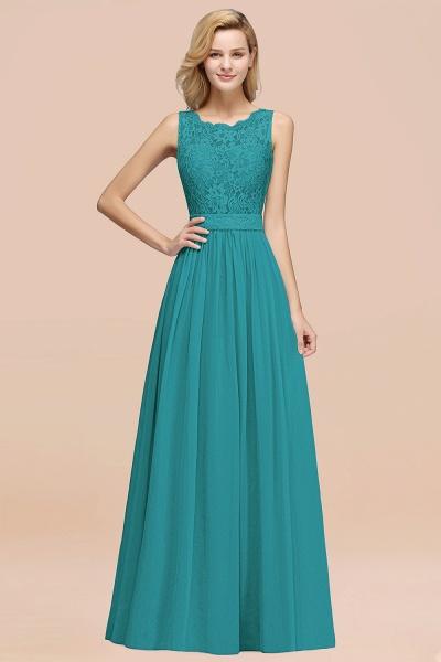 BM0834 Chiffon A-Line Lace Scalloped Sleeveless Long Ruffles Bridesmaid Dress_32