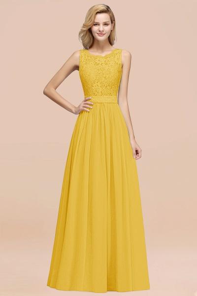 BM0834 Chiffon A-Line Lace Scalloped Sleeveless Long Ruffles Bridesmaid Dress_17