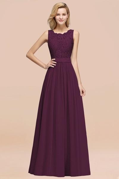 BM0834 Chiffon A-Line Lace Scalloped Sleeveless Long Ruffles Bridesmaid Dress_20