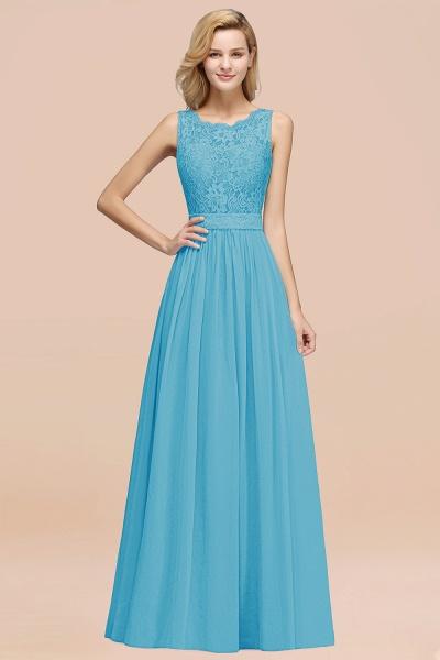 BM0834 Chiffon A-Line Lace Scalloped Sleeveless Long Ruffles Bridesmaid Dress_24