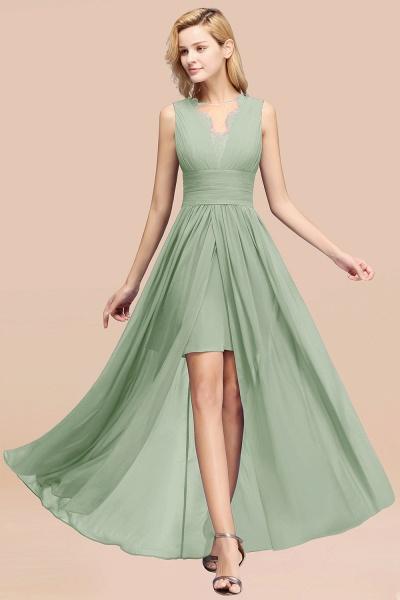 BM0835 Lace Chiffon Jewel Sleeveless Ruffles Short Bridesmaid Dress_41