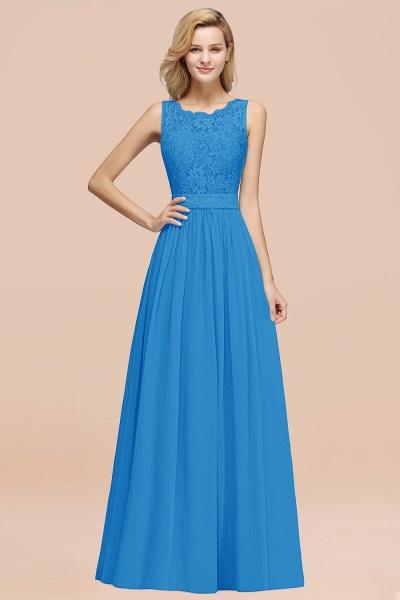 BM0834 Chiffon A-Line Lace Scalloped Sleeveless Long Ruffles Bridesmaid Dress_25