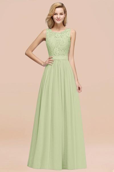 BM0834 Chiffon A-Line Lace Scalloped Sleeveless Long Ruffles Bridesmaid Dress_35