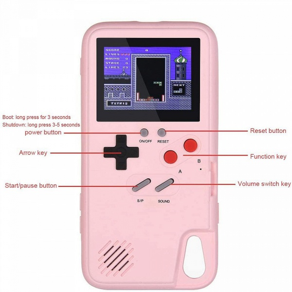 Gameboy iPhone Case with 36 Classic Games_10