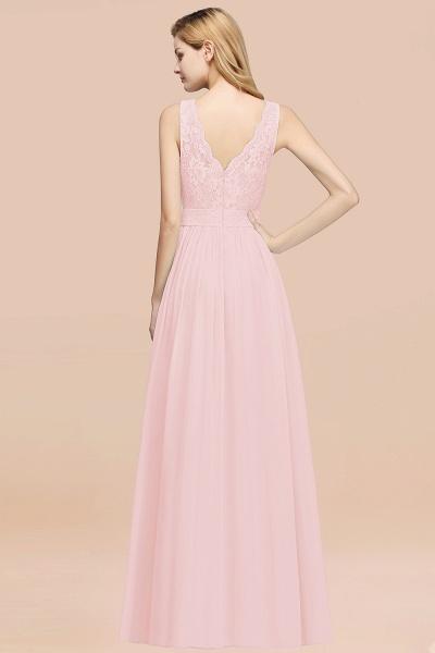 BM0834 Chiffon A-Line Lace Scalloped Sleeveless Long Ruffles Bridesmaid Dress_52