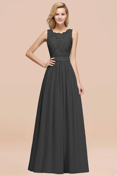 BM0834 Chiffon A-Line Lace Scalloped Sleeveless Long Ruffles Bridesmaid Dress_46