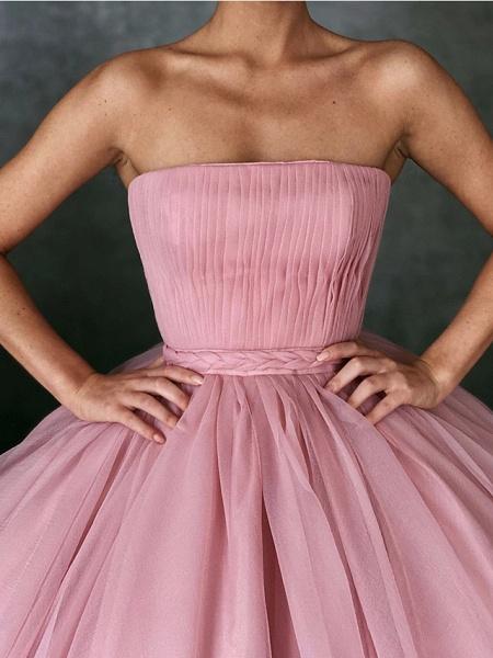 Ball Gown Wedding Dresses Strapless Floor Length Organza Strapless Plus Size Wedding Dress Cute_2