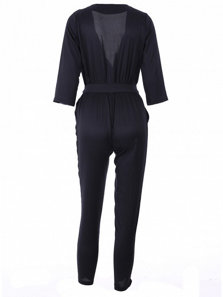 Women's Work Simple Jumpsuit - Solid Colored_10