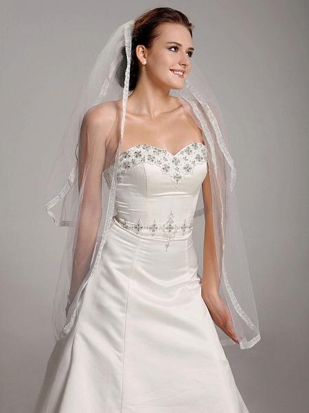 Princess A-Line Wedding Dresses Strapless Sweetheart Neckline Court Train Satin Sleeveless_4