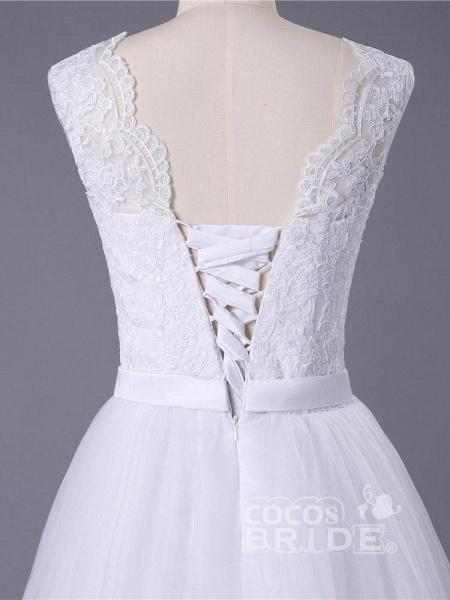 New Lace O-Neck Lace Tulle Boho Wedding Dresses_6