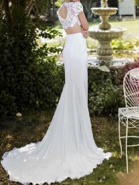 Lt7982079 Mermaid Lace Vintage Bohemian Wedding Dress_1