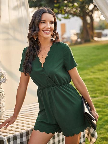Women's Green Romper_2