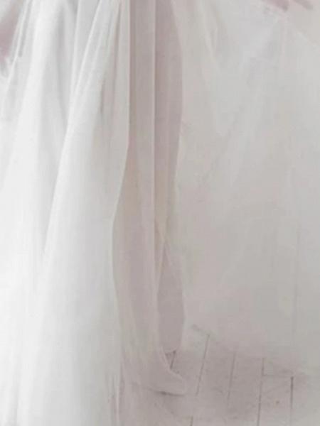 A-Line Wedding Dresses V Neck Floor Length Lace Tulle Regular Straps Boho_2