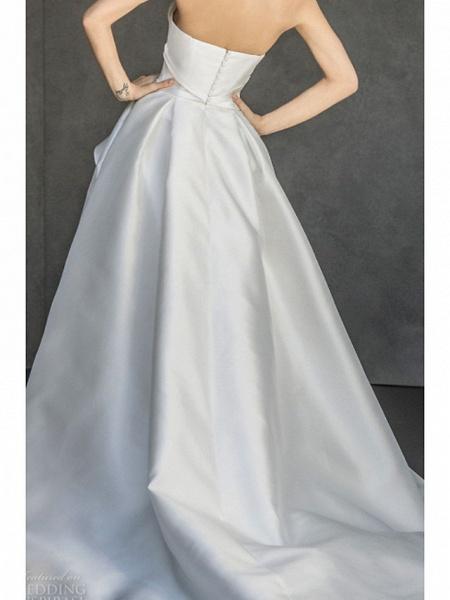 Lt7918012 Boho Lace Strapless Split Wedding Dress_2