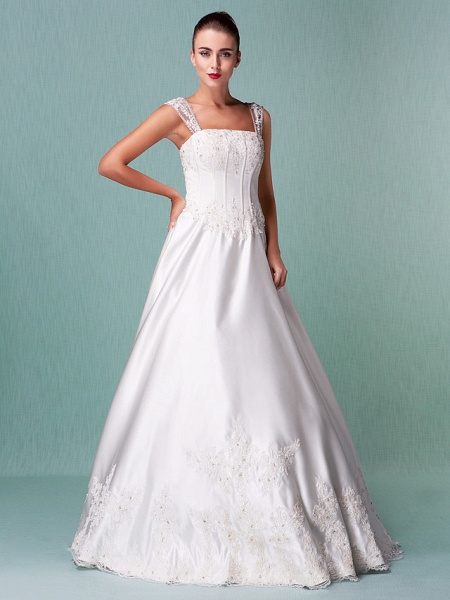Lt14001 Simple Boho Ball Gown Wedding Dress_10