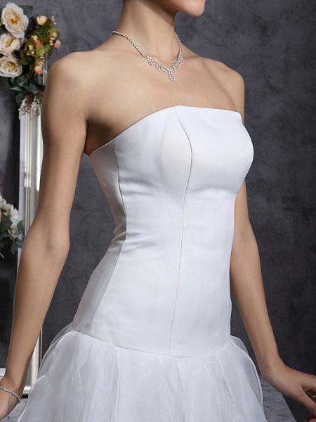 Princess A-Line Wedding Dresses Strapless Organza Satin Sleeveless_6