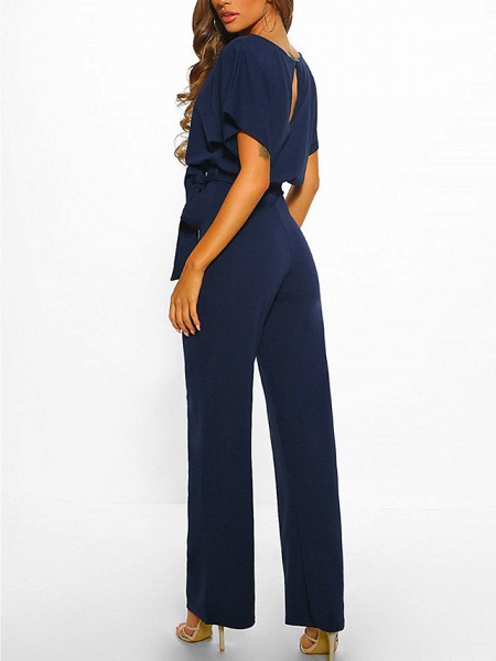 Women's Basic \ Street chic Black Blue Red Romper_14