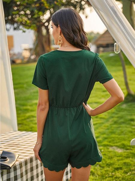 Women's Green Romper_5