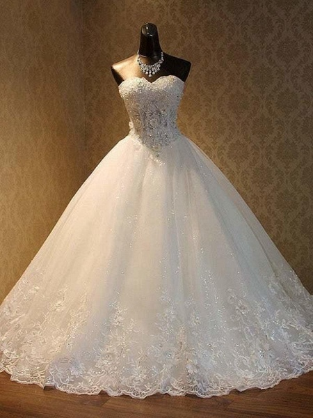 Elegant Luxury Lace Wedding Dress 2020 Vintage Plus Size Ball Gowns_1