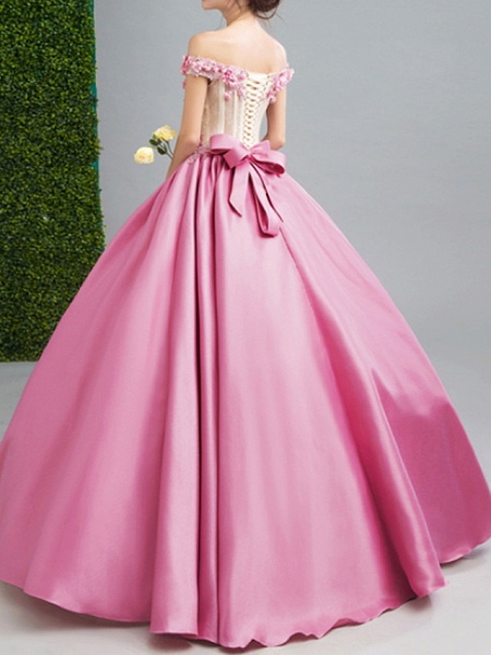 Ball Gown Wedding Dresses Strapless Floor Length Chiffon Tulle Cap Sleeve Formal Wedding Dress in Color Illusion Detail Plus Size_2