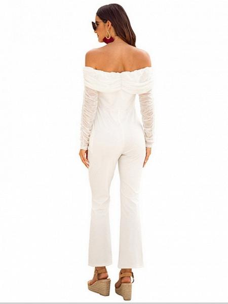 Women's Basic Off Shoulder White Black Royal Blue Slim Jumpsuit_4