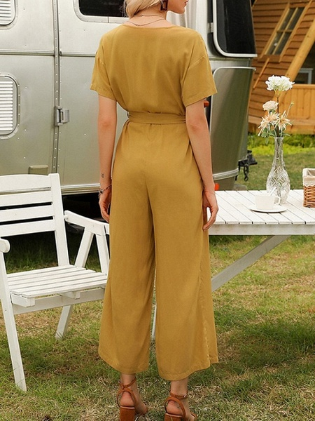 Women's Yellow Navy Blue Jumpsuit_3