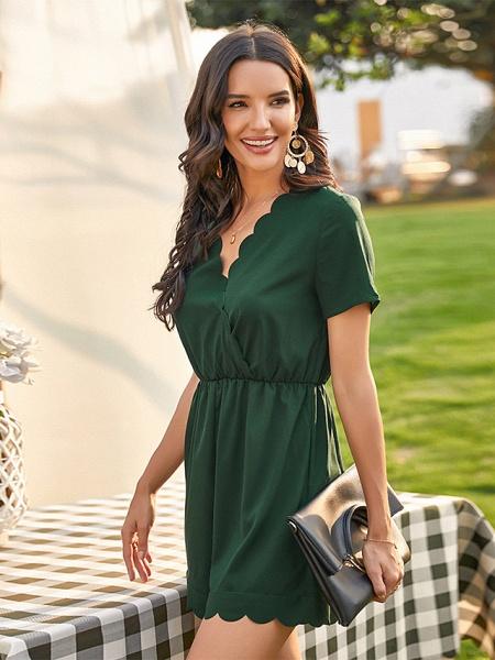 Women's Green Romper_3