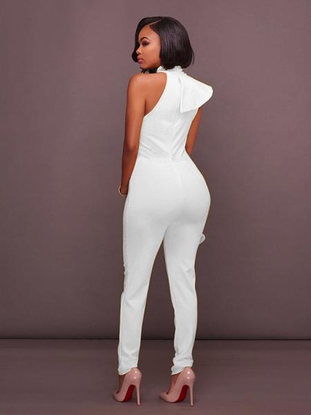 Women's Basic Halter Neck Yellow Royal Blue White Jumpsuit_6