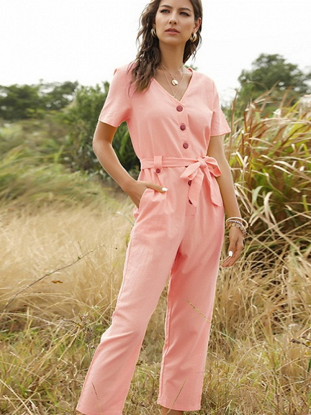 Women's Yellow Blushing Pink White Jumpsuit_5