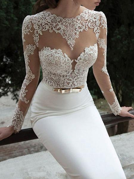 Lt7902462 Vintage Sheer Tulle Bohemian Wedding Dress With Sleeves_1