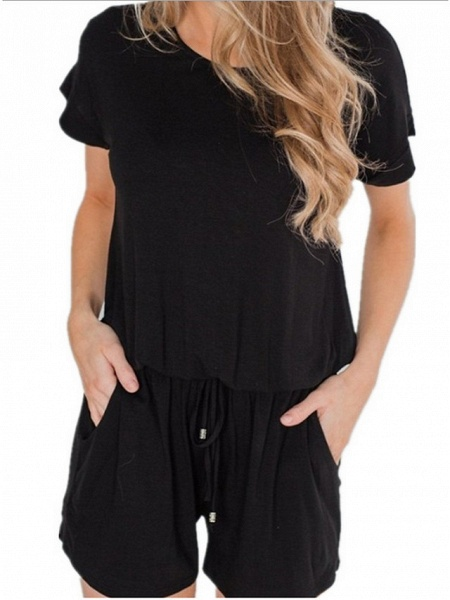 Women's Wine White Black Romper