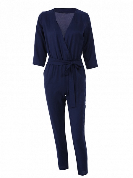 Women's Work Simple Jumpsuit - Solid Colored_8