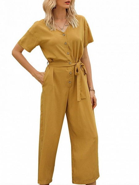 Women's Yellow Navy Blue Jumpsuit_5