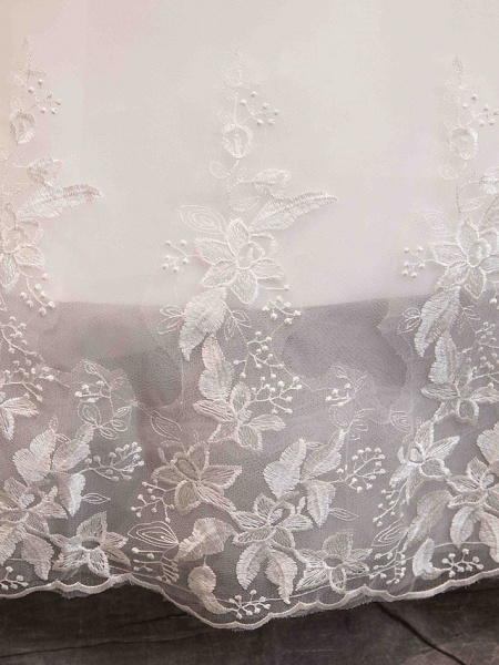 Ball Gown Wedding Dresses Off Shoulder Floor Length Lace Tulle Long Sleeve Romantic Illusion Sleeve_11