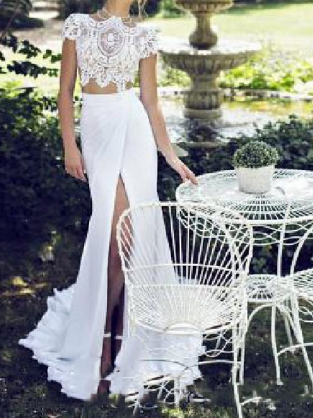 Lt7982079 Mermaid Lace Vintage Bohemian Wedding Dress_2