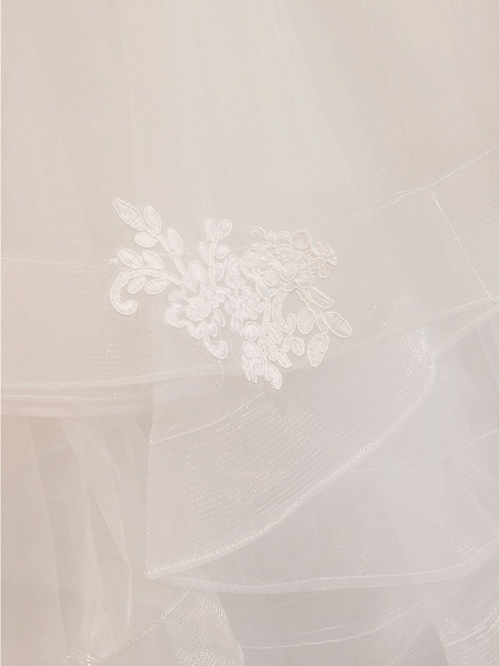 Ball Gown Wedding Dresses Jewel Neck Floor Length Lace Tulle Half Sleeve Glamorous See-Through Backless Illusion Sleeve_13
