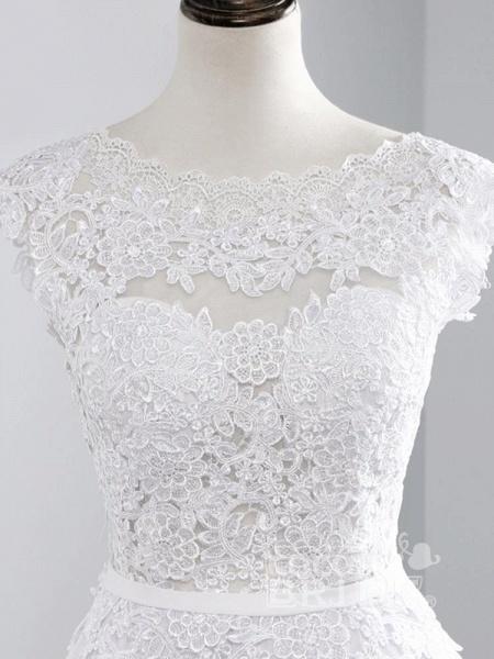 Cheap Jewel Backless Lace A-Line Wedding Dresses_7