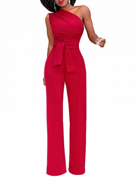 Women's White Red Yellow Jumpsuit_8