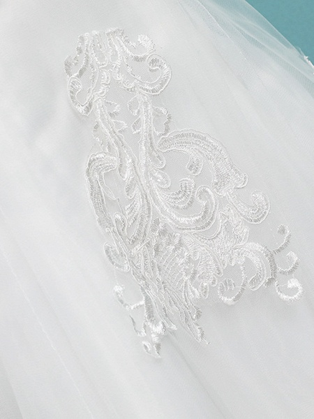 Mermaid \ Trumpet Wedding Dresses Jewel Neck Court Train Lace Tulle Polyester Long Sleeve Sexy Illusion Sleeve_7