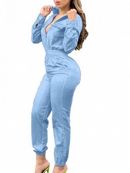 Women's Blue Light Blue Jumpsuit_3