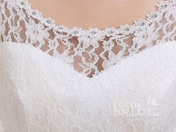 Cheap Bridal Beaded Sequin Crystal Lace Wedding Dress_6