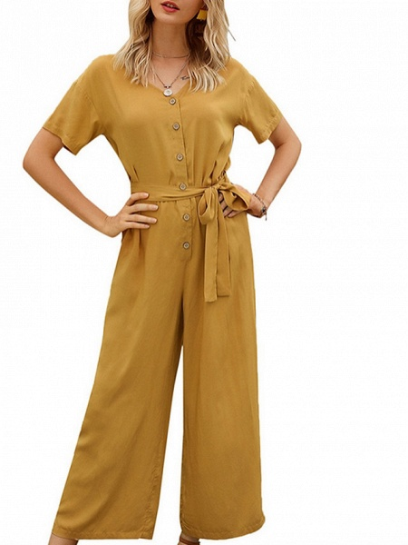 Women's Yellow Navy Blue Jumpsuit_4