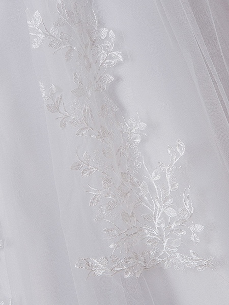Ball Gown Wedding Dresses High Neck Floor Length Lace Tulle Polyester Sleeveless Formal Romantic_7