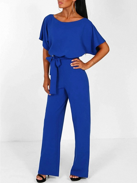 Women's Basic \ Street chic Black Blue Red Romper_9