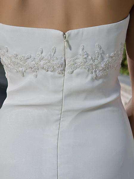 Sheath \ Column Wedding Dresses Halter Neck Sweetheart Neckline Asymmetrical Chiffon Sleeveless_8