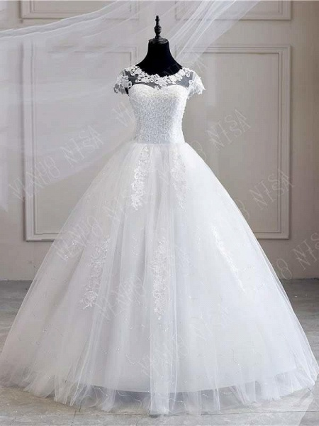 Wedding Dress Lace appliques pearls Sweetheart Ball Gown Wedding Dress