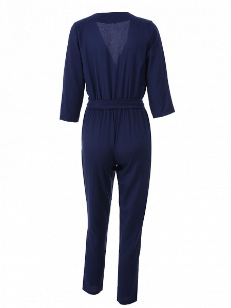 Women's Work Simple Jumpsuit - Solid Colored_9