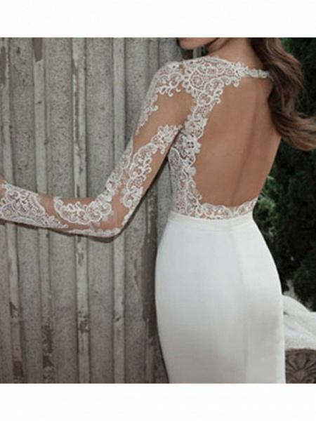 Lt7902462 Vintage Sheer Tulle Bohemian Wedding Dress With Sleeves_2